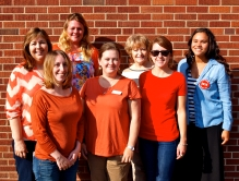 The MiCAFE team wears orange to show our support for hunger-relief.