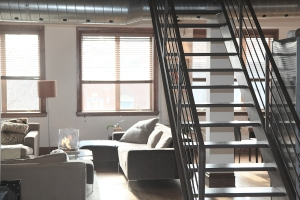 Stairs in a loft