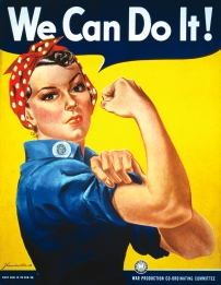 """We can do it"" motivational poster from World War 2"