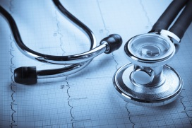 Stethoscope and EKG