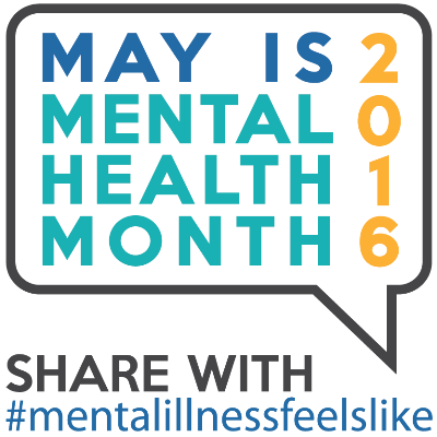 Mental Health Month 2016 logo.