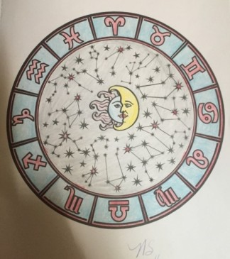 Zodiac constellations in a coloring book