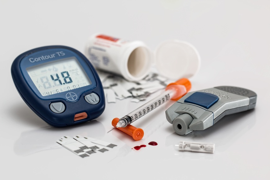 Diabetes medical supplies.