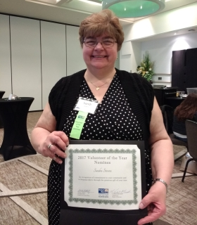 sandi stevens recognition certificate